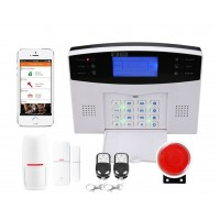 Монтаж беспроводной GSM SMS охранной сигнализации.