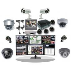 Монтаж системы видеонаблюдения.